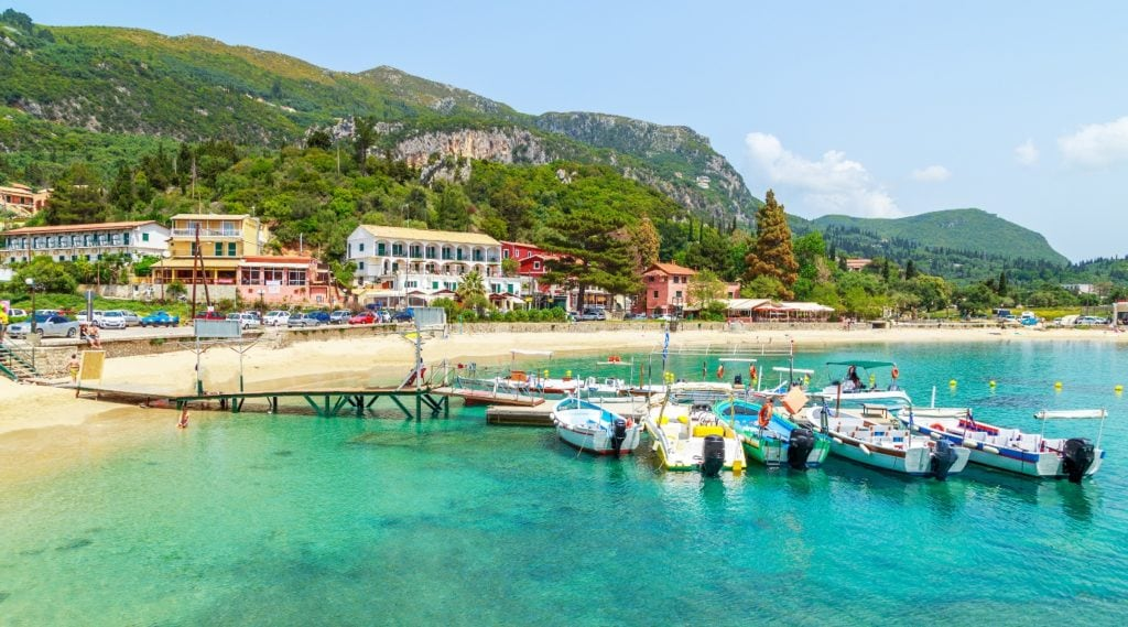 Beach in Corfu perfect for Mum and Daughter getaway