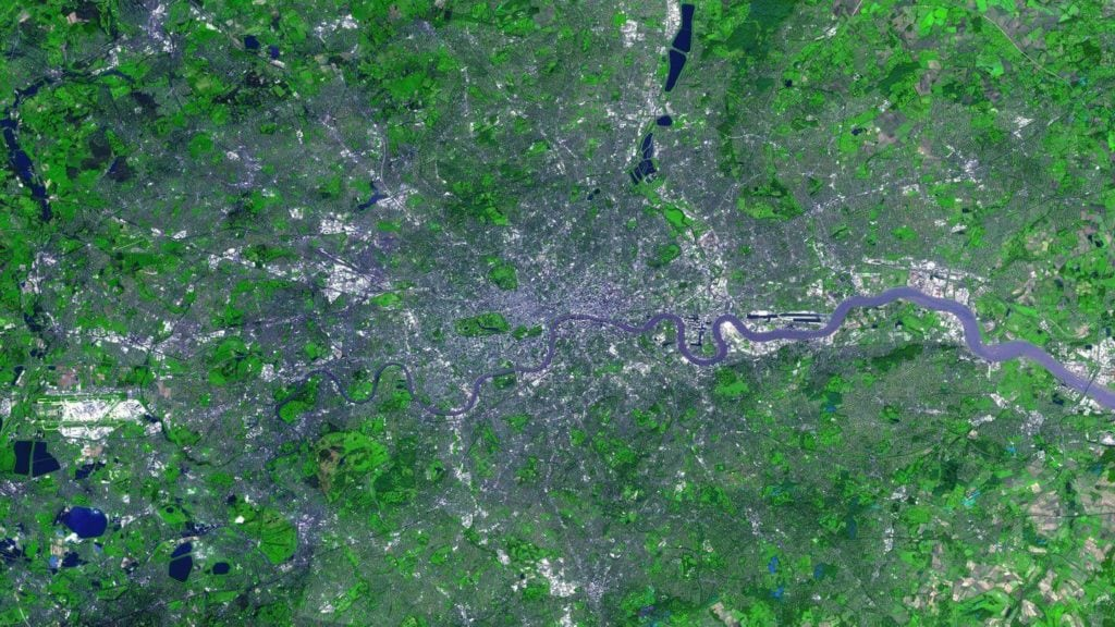 river thames seen from space