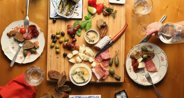 tapas board meal Spanish tapas