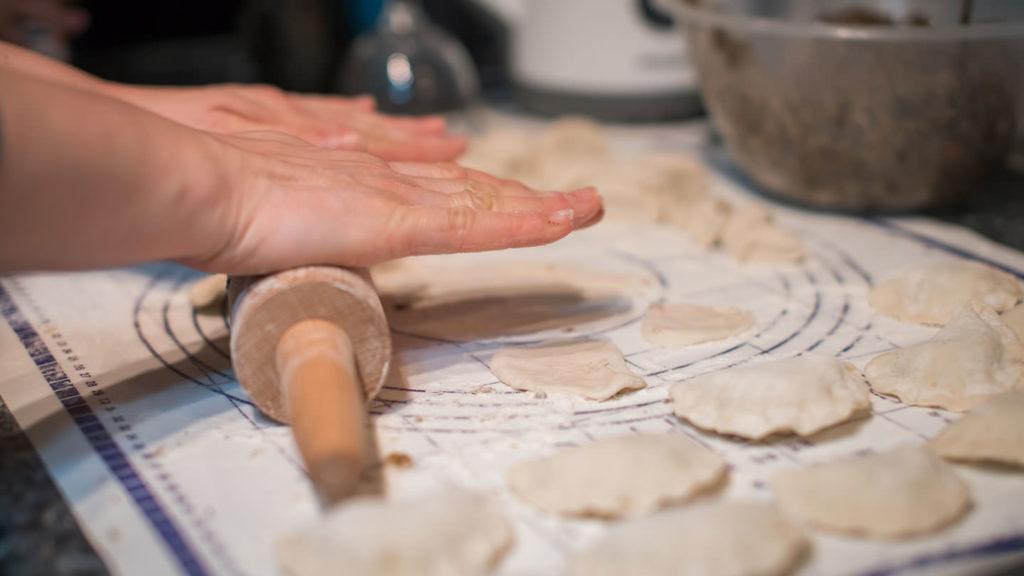 Making Polish pierogi