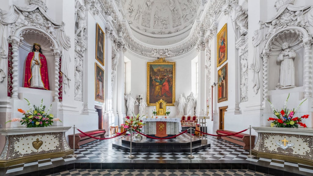 Interior of the church of St Paul and St Peter