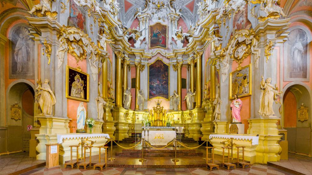 Interior of St Theresa Baroque period architecture