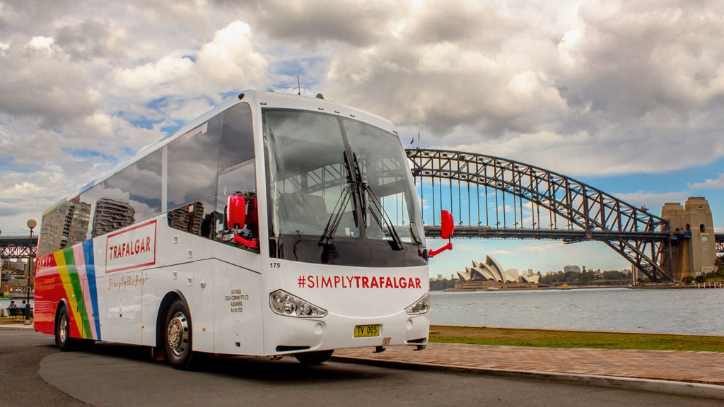 Reduce your environmental impact by travelling in a group - Trafalgar coach