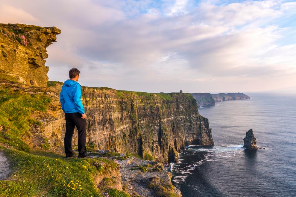 Coastline landscape in Ireland