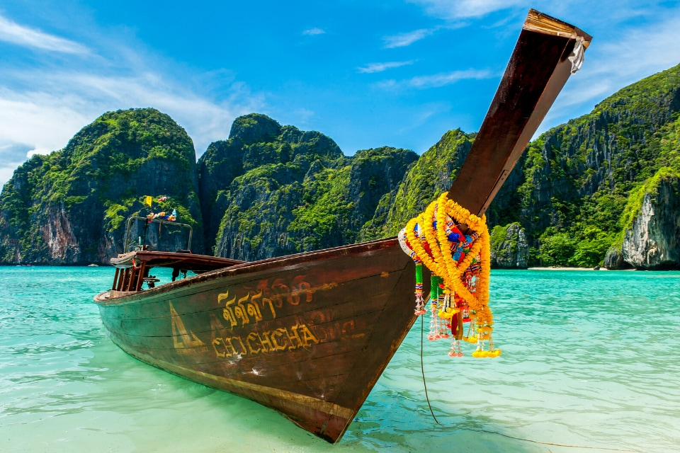 Boat in beach in Thailand
