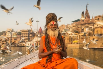 Indian man on River Ghangees