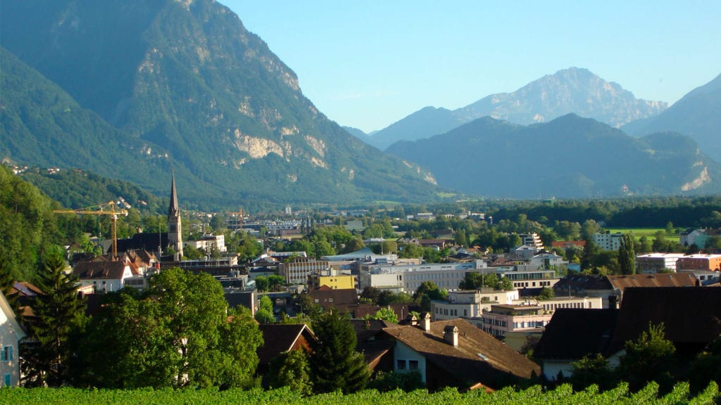 Landscape of Vaduz attractions
