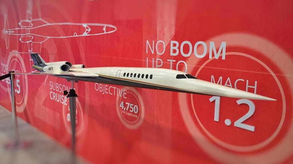 Aerion AS2 supersonic plane model