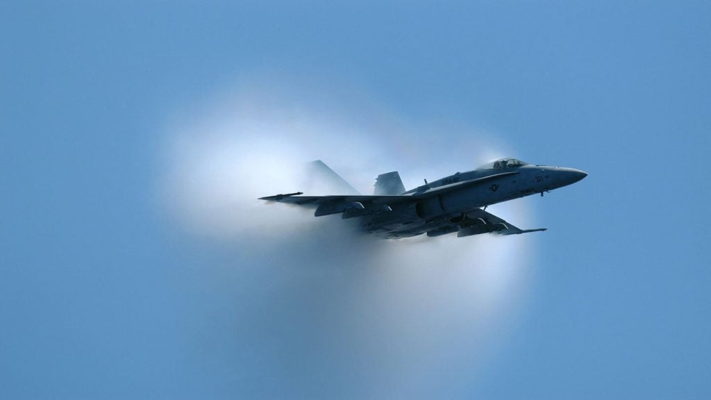 supersonic plane sonic boom breaking sound barrier