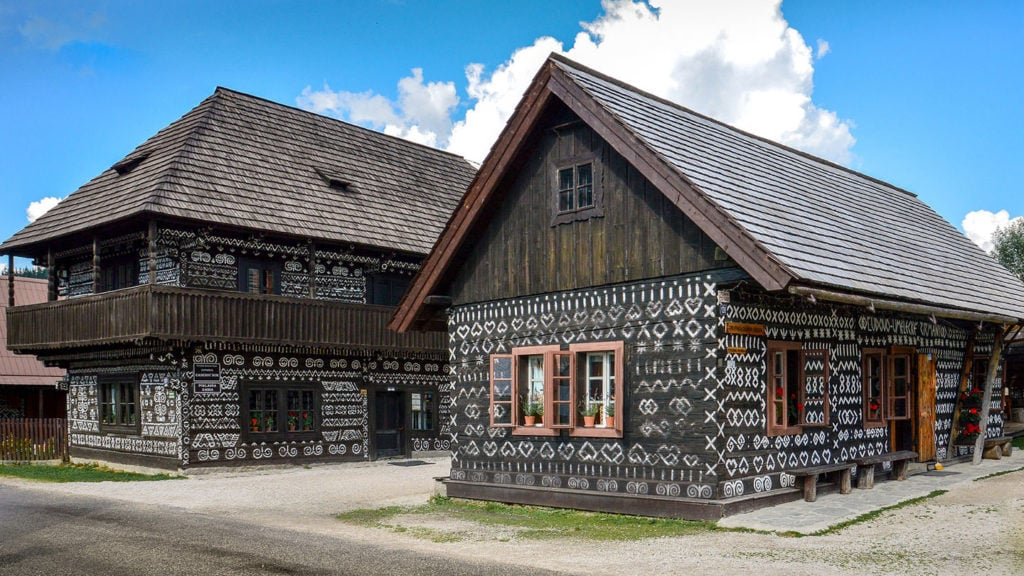Visit Slovakia to see the Cicmany traditional houses