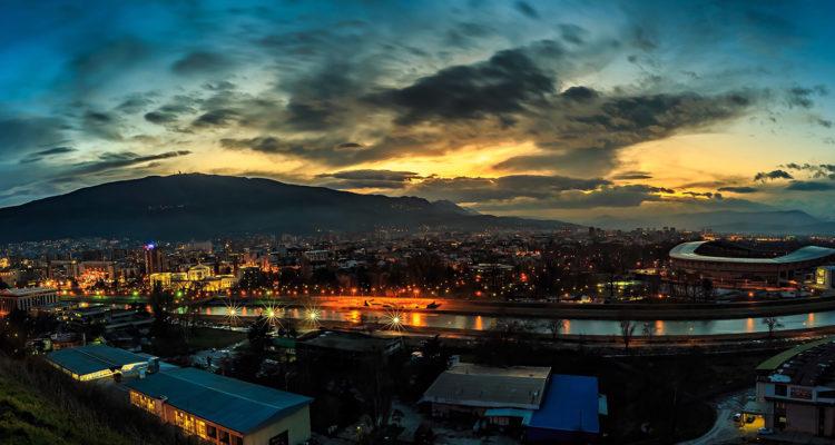 Panorama of Skopje