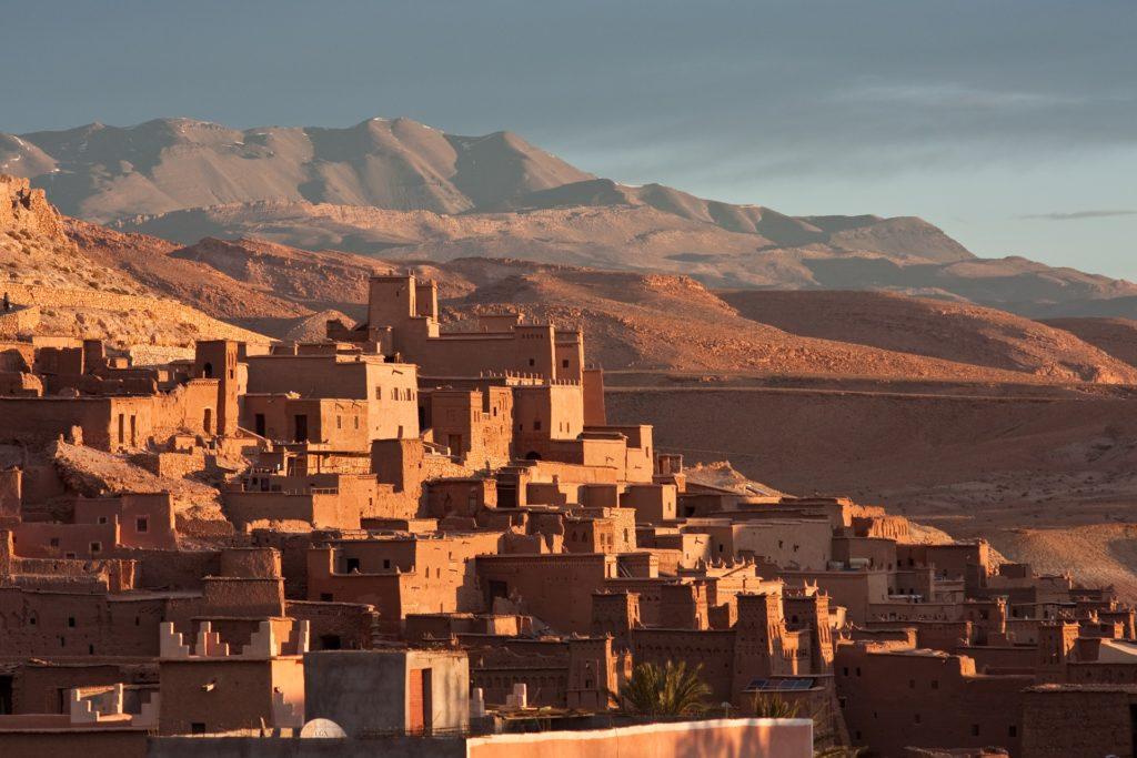 brown earthen buildings Aït Ben Haddou  Morocco