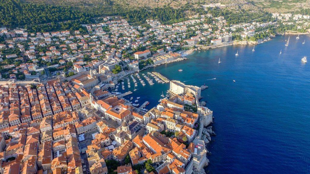 aerial view Dubrovnik Croatia overtourism destinations