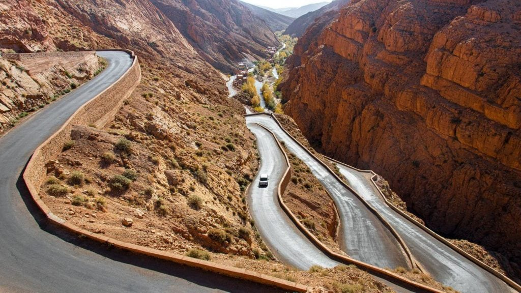 winding road Dades Valley Morocco