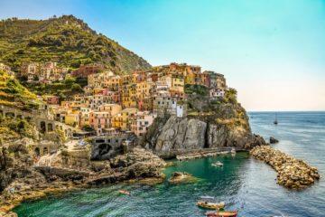 Manarola Cinque Terre coastline Italy