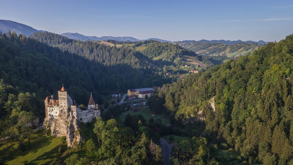Transylvania Dracula Castle Aerial