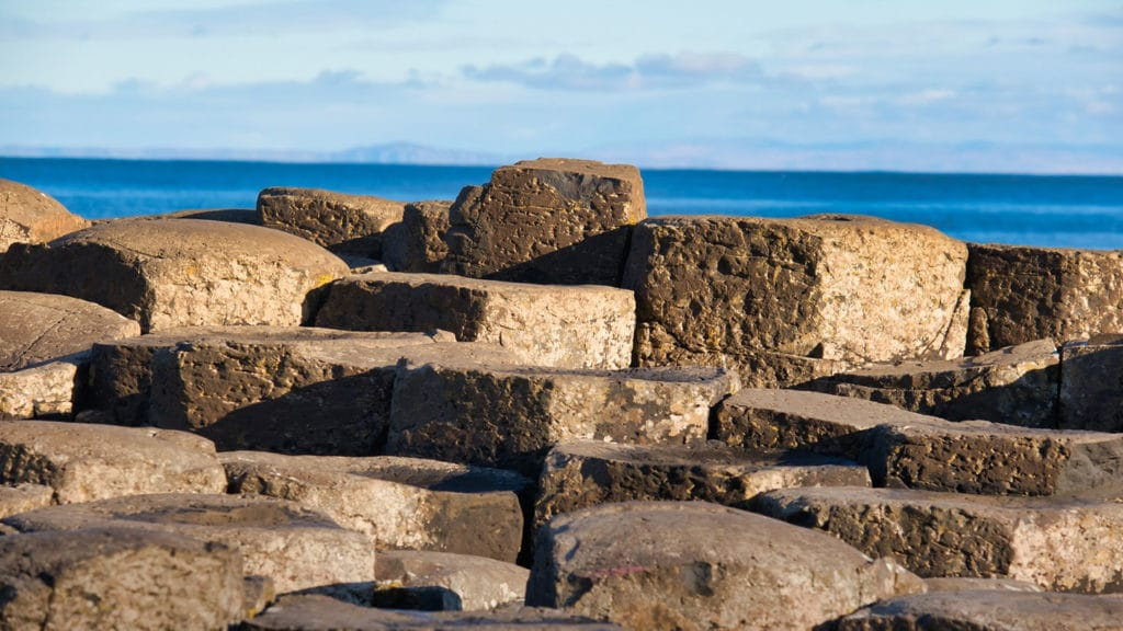 Close up on the Giant's Causeway Columns