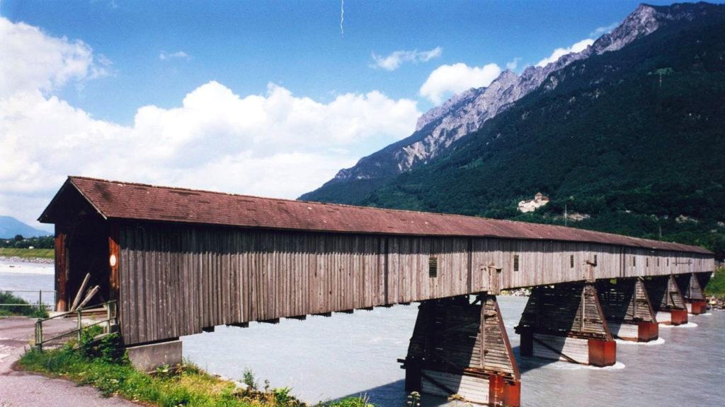 old rhine bridge liechtenstein