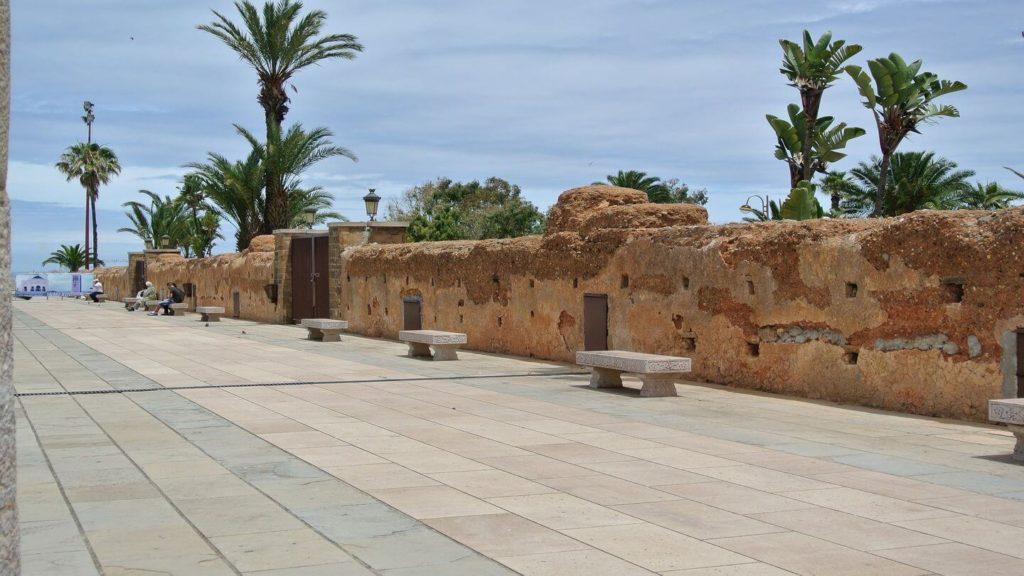 ancient fortress wall Rabat Morocco