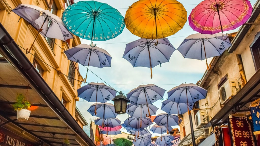 Skopje Umbrellas