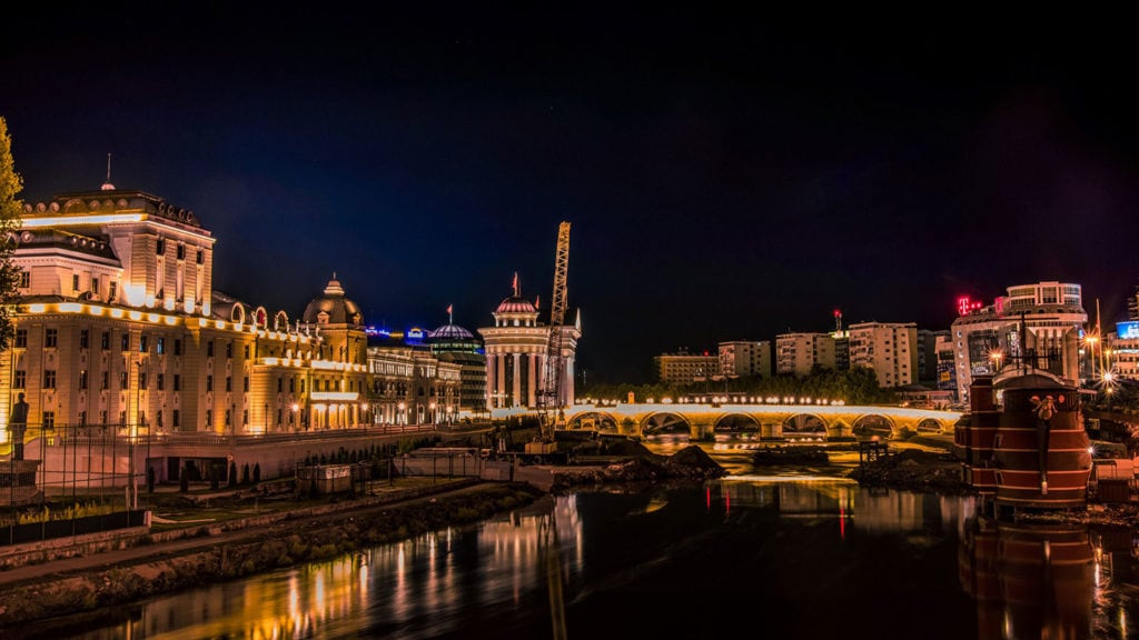 Night Shot of Skopje