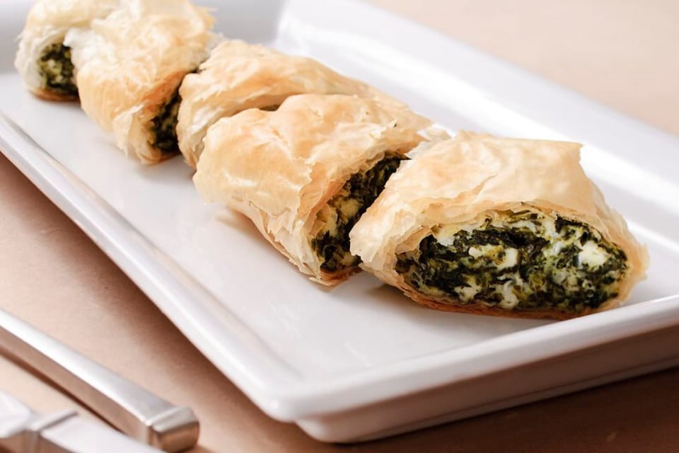 world recipe - spinach and feta filo pie