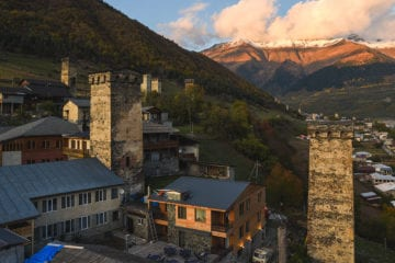 View of Mestia in Georgia