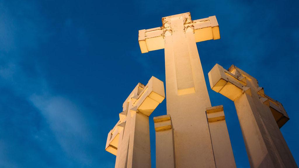 Three Crosses Monument in Vilnius