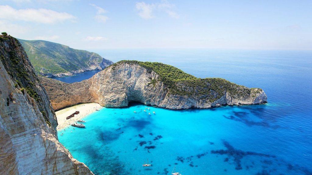 blue water zakynthos island Greece