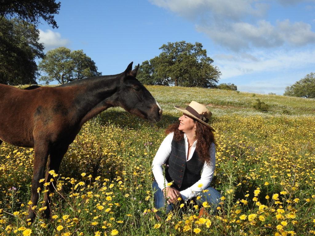 Vera with her Lusitano horse