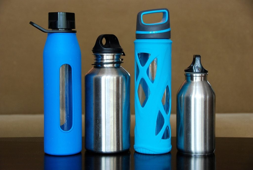 different size reusable water bottles