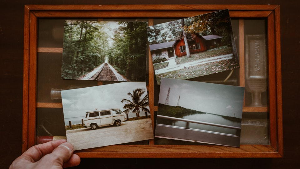 travel photos in frame