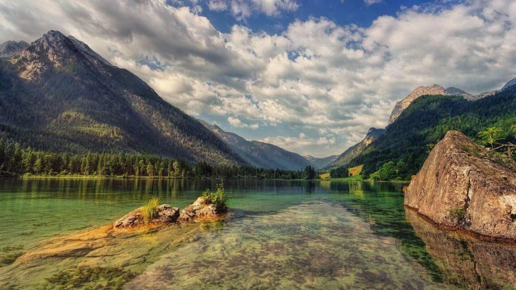alpine lake Bavaria Germany
