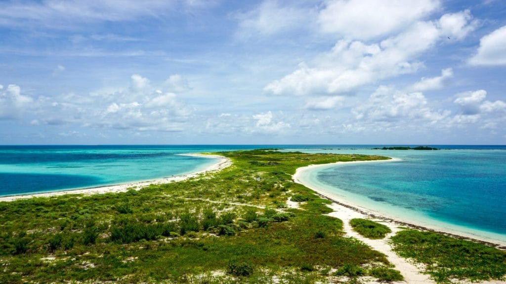 sandy beaches blue waters Dry Tortugas Florida United States