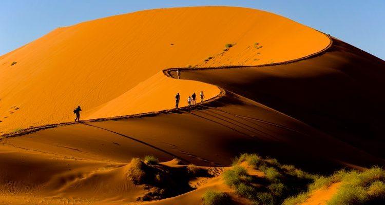 sossusvlei desert sand dunes namibia