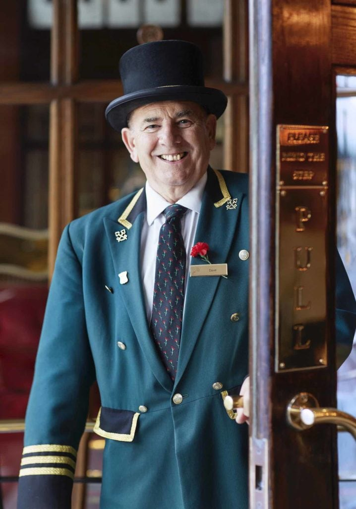 A doorman at The Rubens hotel