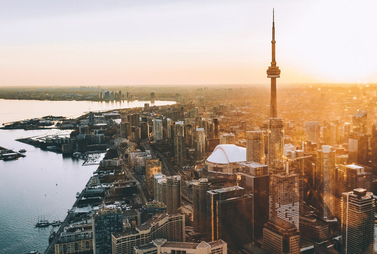 Aerial view of Toronto