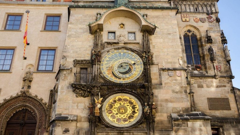 astronomical clock tower old town square prague
