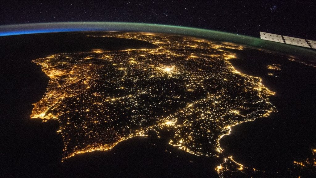 city lights seen from space virtual tours for kids