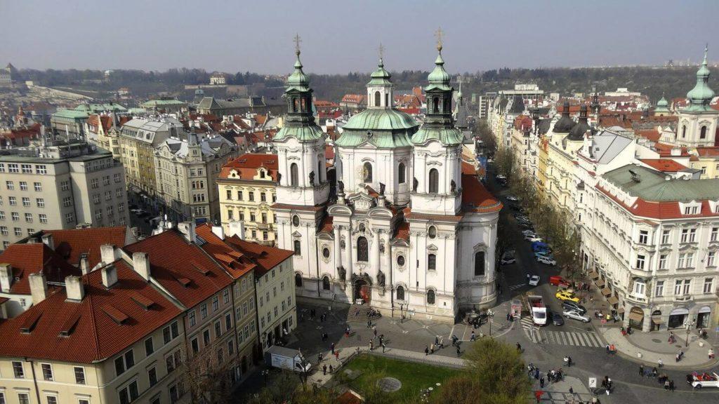 mala strana district Prague st nicholas church