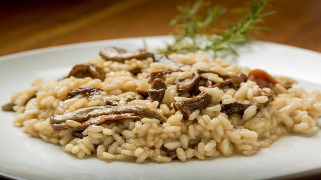 mushroom risotto italian rice recipe