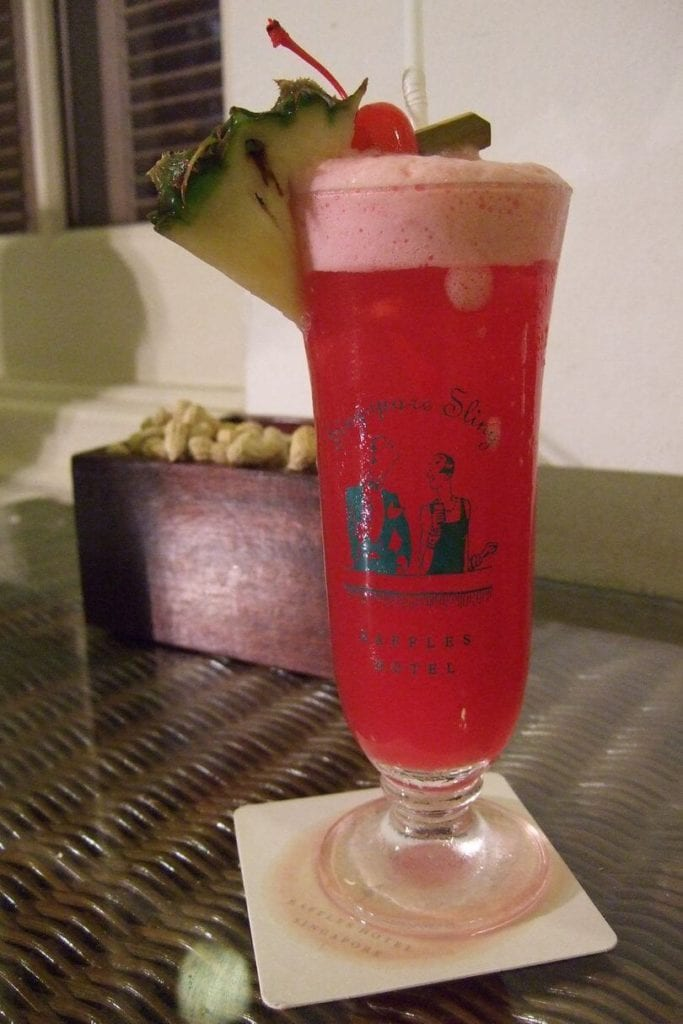 singapore sling cocktail raffles hotel singapore
