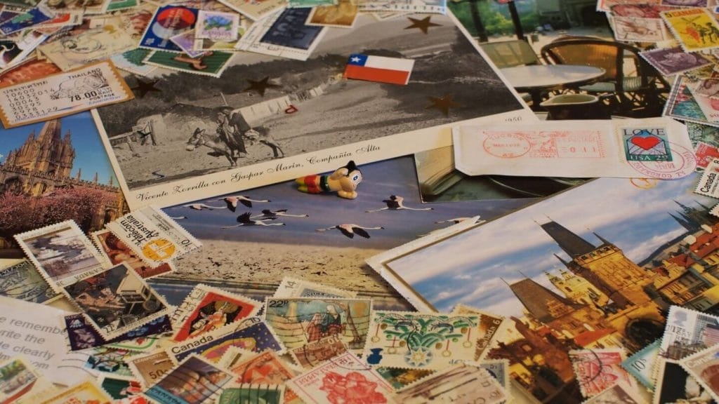 travel pinboard collage travel souvenir collection