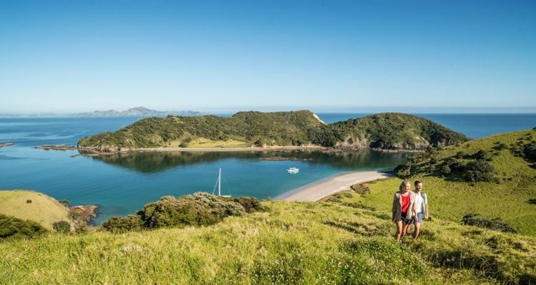 people walking in the Bay of Islands North Island New Zealand