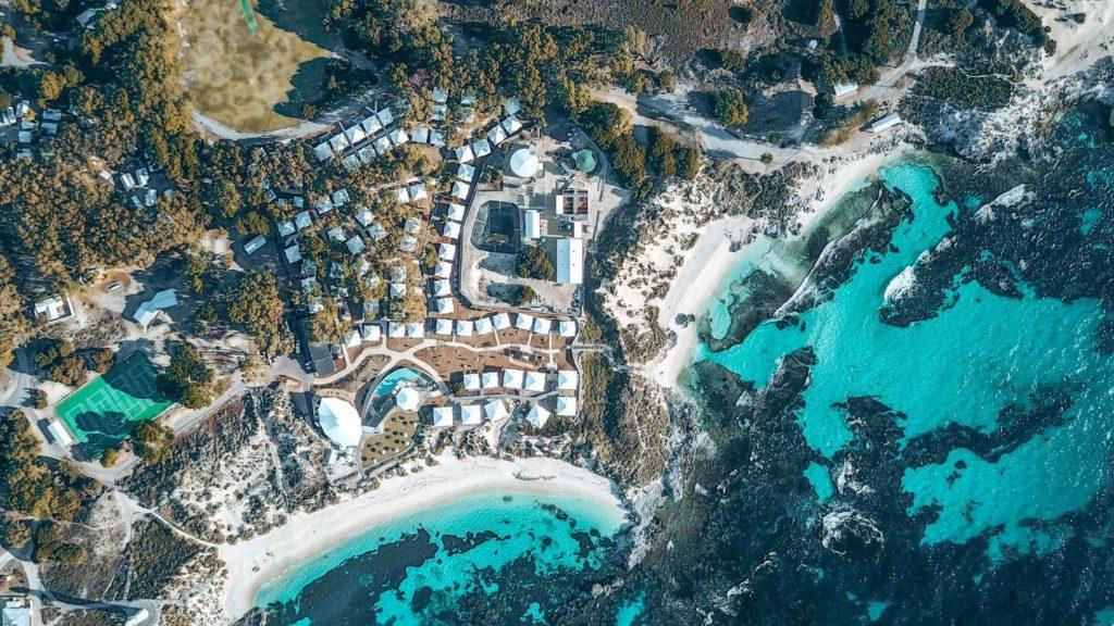 aerial view discovery rottnest island eco beach club