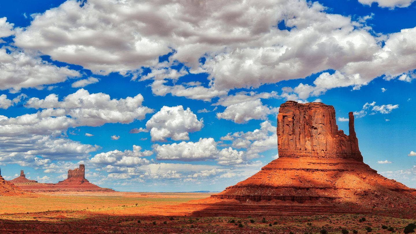 Monument Valley's sandstone pillars