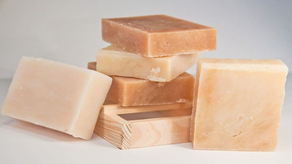 blocks of body soap travel hygiene kit