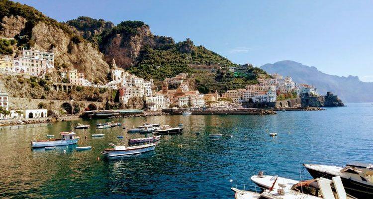 boats amalfi coast italy