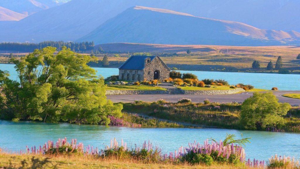 Australia to New Zealand travel looks like this at Lake Tekapo