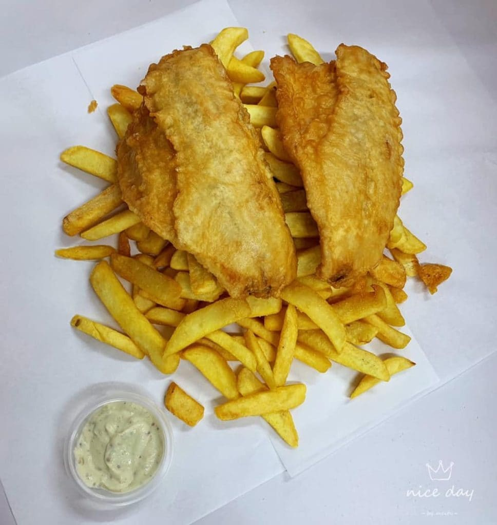 fish and chips on paper Parker's Fish and Chips Warrnambool Victoria